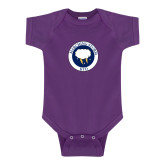 Purple Infant Onesie-Marching Storm Cloud Circle - Kid
