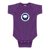 Purple Infant Onesie-Marching Storm Cloud Circle - Future
