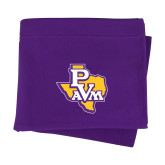 Purple Sweatshirt Blanket-PVAM Texas