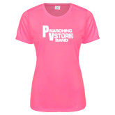 Ladies Performance Hot Pink Tee-PV Marching Storm Band