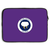 15 inch Neoprene Laptop Sleeve-Marching Storm Cloud Circle