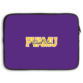 15 inch Neoprene Laptop Sleeve-PVAMU Black Fox Overlap