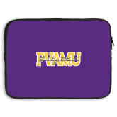 15 inch Neoprene Laptop Sleeve-PVAMU Twirling Thunder Overlap