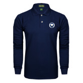 Navy Long Sleeve Polo-Marching Storm Cloud Circle