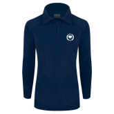 Columbia Ladies Half Zip Navy Fleece Jacket-Marching Storm Cloud Circle