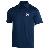 Under Armour Navy Performance Polo-Marching Storm Cloud Circle