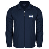 Full Zip Navy Wind Jacket-Marching Storm Cloud Circle