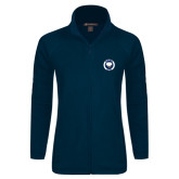 Ladies Fleece Full Zip Navy Jacket-Marching Storm Cloud Circle