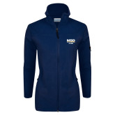 Columbia Ladies Full Zip Navy Fleece Jacket-MSD Alumni