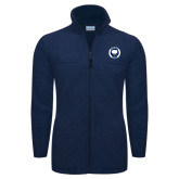 Columbia Full Zip Navy Fleece Jacket-Marching Storm Cloud Circle