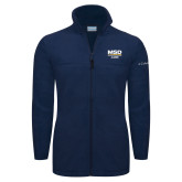 Columbia Full Zip Navy Fleece Jacket-MSD Alumni