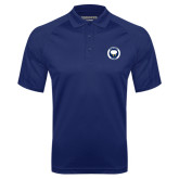 Navy Textured Saddle Shoulder Polo-Marching Storm Cloud Circle