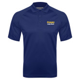 Navy Textured Saddle Shoulder Polo-PVAMU Twirling Thunder Script