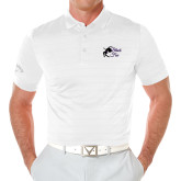 Callaway Opti Vent White Polo-Black Fox Logo