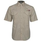 Khaki Short Sleeve Performance Fishing Shirt-PVAMU