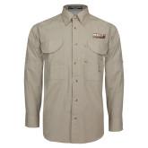 Khaki Long Sleeve Performance Fishing Shirt-PVAMU