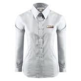 Ladies Red House White Long Sleeve Shirt-PVAMU