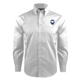 Red House White Dobby Long Sleeve Shirt-Marching Storm Cloud Circle