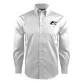 Red House White Dobby Long Sleeve Shirt-Black Fox Logo