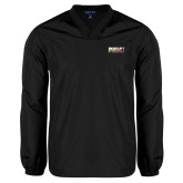 V Neck Black Raglan Windshirt-PVAMU