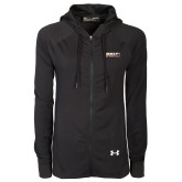 Ladies Under Armour Black Varsity Full Zip Hoodie-PVAMU