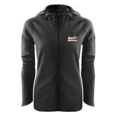 Ladies Tech Fleece Full Zip Black Hooded Jacket-Athletic Directors Club