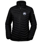 Columbia Mighty LITE Ladies Black Jacket-Marching Storm Cloud Circle