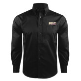 Red House Black Herringbone Non Iron Long Sleeve Shirt-PVAMU