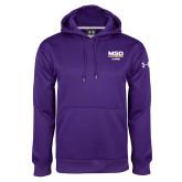Under Armour Purple Performance Sweats Team Hoodie-MSD Alumni