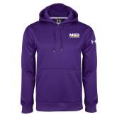 Under Armour Purple Performance Sweats Team Hoodie-MSD