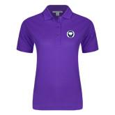 Ladies Easycare Purple Pique Polo-Marching Storm Cloud Circle