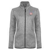 Grey Heather Ladies Fleece Jacket-PVAM Texas