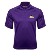 Purple Textured Saddle Shoulder Polo-Athletic Directors Club