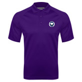 Purple Textured Saddle Shoulder Polo-Marching Storm Cloud Circle