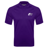 Purple Textured Saddle Shoulder Polo-Black Fox Logo