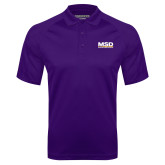 Purple Textured Saddle Shoulder Polo-MSD
