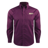 Red House Deep Purple Herringbone Non Iron Long Sleeve Shirt-PVAMU