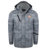 Grey Brushstroke Print Insulated Jacket-PVAM Texas