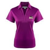 Ladies Purple Performance Fine Jacquard Polo-Athletic Directors Club