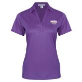 Ladies Purple Performance Fine Jacquard Polo-MSD Alumni