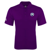 Adidas Climalite Purple Game Time Polo-Marching Storm Cloud Circle