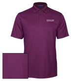 Purple Performance Fine Jacquard Polo-Word Mark Stacked