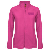 Ladies Fleece Full Zip Raspberry Jacket-PVAMU