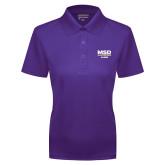 Ladies Purple Dry Mesh Polo-MSD Alumni