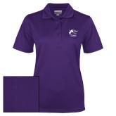 Ladies Purple Dry Mesh Polo-Black Fox Alumni