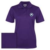Ladies Purple Dry Mesh Polo-Marching Storm Cloud Circle - Fan