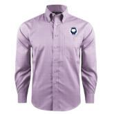 Red House Purple Plaid Long Sleeve Shirt-Marching Storm Cloud Circle
