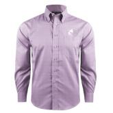 Red House Purple Plaid Long Sleeve Shirt-Black Fox Logo