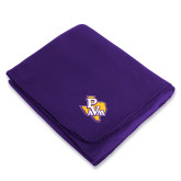 Purple Arctic Fleece Blanket-PVAM Texas