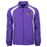 Colorblock Purple/White Wind Jacket-Official Logo